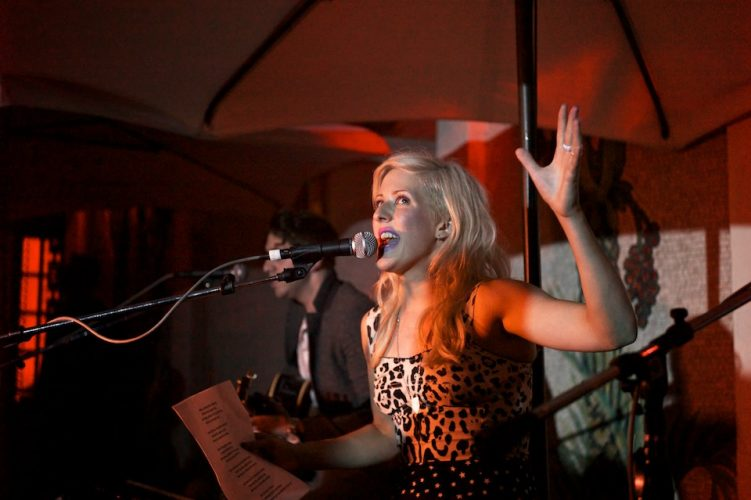 Singer Ellie Goulding performs at the Versace Mansion, Miami, Florida, USA.