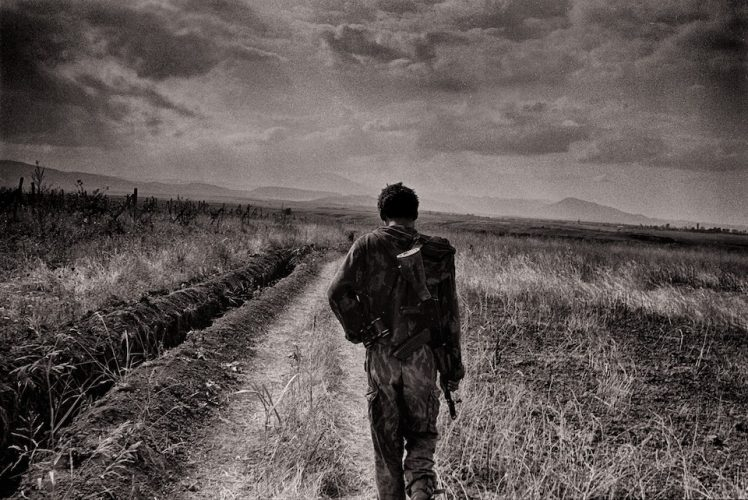 Toward the front. The front line in Martakert, Karabakh.