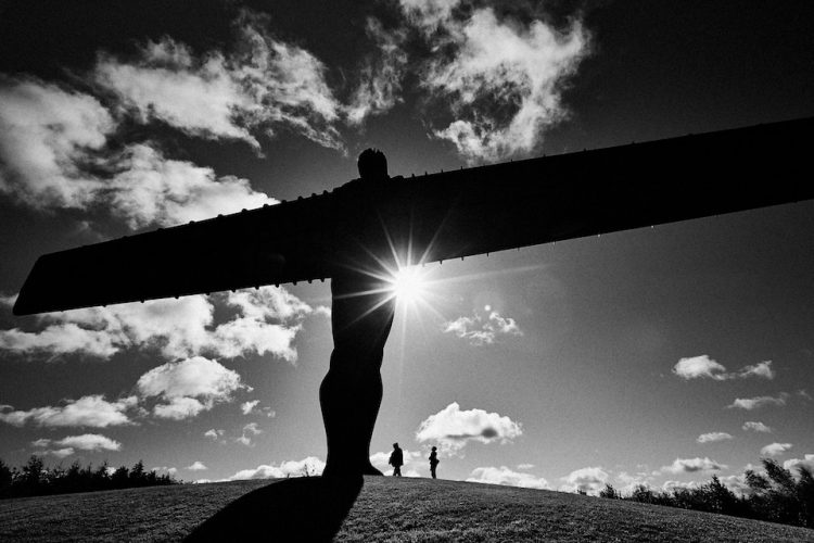 The Angel of the North sculpture by Antony Gormley, Gateshead, Tyne and Wear, England.
