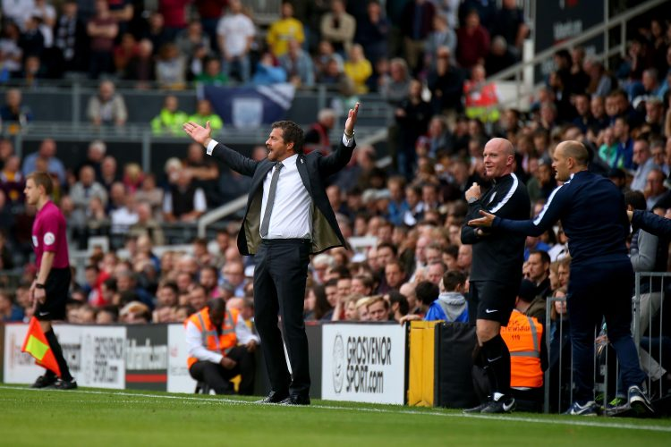 Fulham v Preston North End 0597- 14/10/2017. Fulham v Preston North End. Action from the Sky Bet Championship.  Fulham FC Manager Slavisa JOKANOVIC