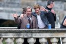 James Norton on river filming