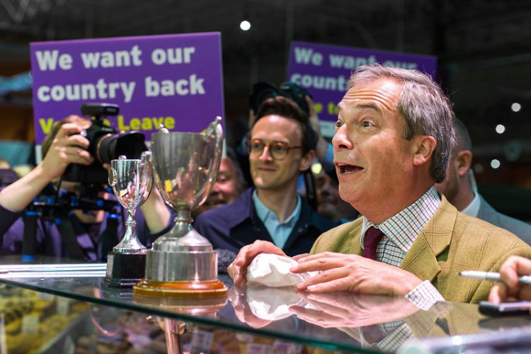 Nigel Farage visits Leeds, as the Brexit Bus Tour continues in Yorkshire.