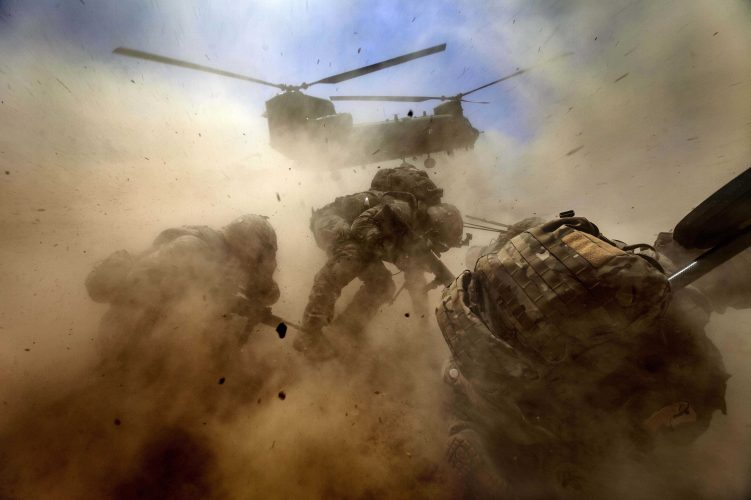 Helicopter extraction. Helmand 2012