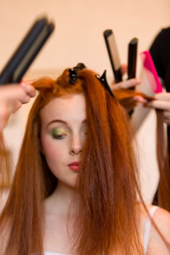 Pampered behinds the scenes at Fashion Shows