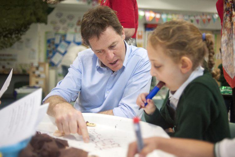 Nick Clegg school 01/05/14