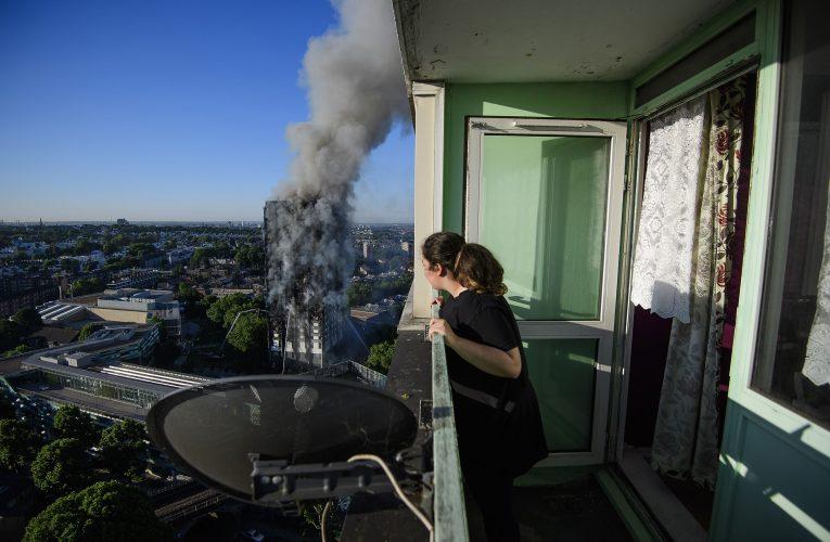 Grenfell tower block fire.