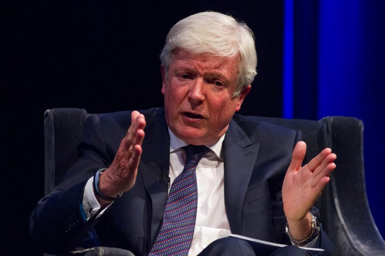 Tony Hall, Director General of the BBC, in conversation with Lord Puttnam at BAFTA, London
