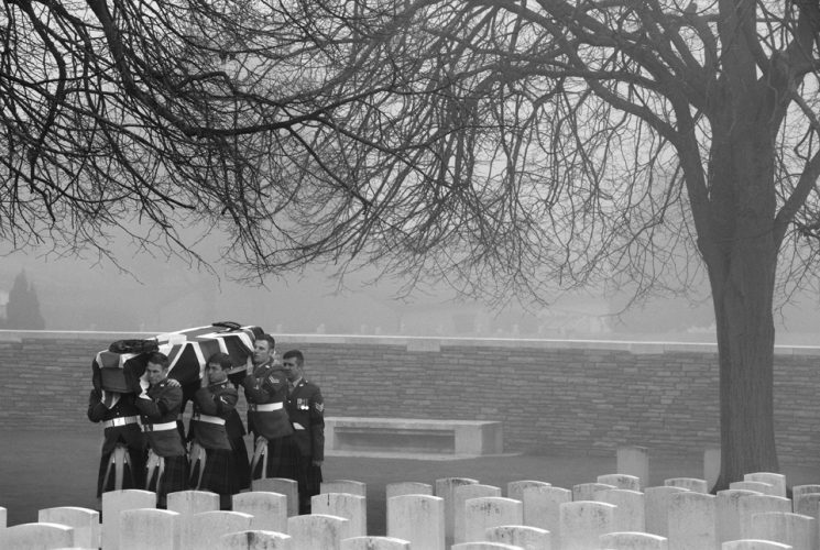 Loos British Cemetery, Loos, Pas de Calais, France.Re-Interremen