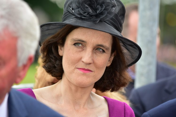 Secretary Of State for Northern Ireland during an Official Royal visit by HRH Queen Elizabeth and the Duke of Edinburgh, Prince Philip. Bellerena, County Londonderry, UK, 28 June 2016