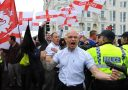 Trouble at March for England Rally Brighton UK