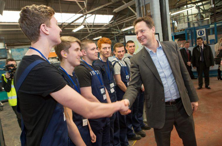 Nick Clegg visits Glen Dimplex factory
