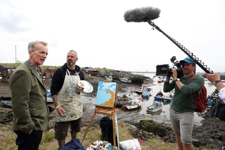 North Yorkshire Freelance Photographer | Frank Skinner Filming for Sky TV in Redcar