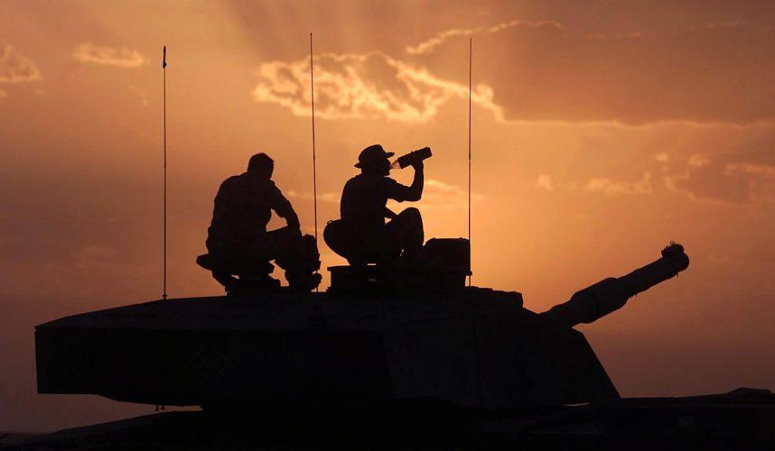 British soldiers. Oman 2001