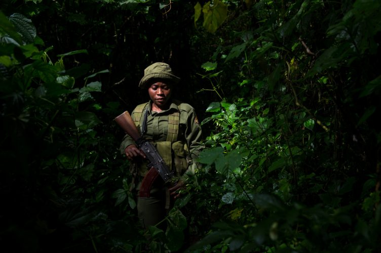 Virunga park ranger, eastern Congo