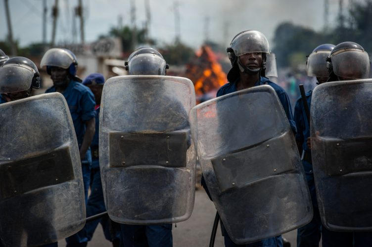 Anti government protests in Burundi