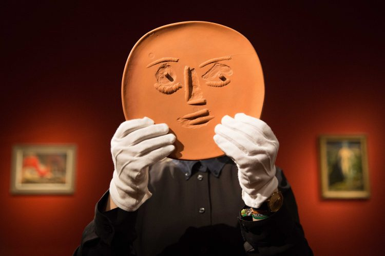A plate created by Picasso which forms part of the musician Sting's art collection