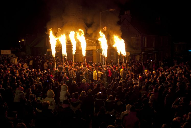 The Comrie Flambeaux which takes place in the small Perthshire village every Hogmanay.