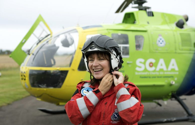 Lorraine Kelly supporting Scotland's Charity Air Ambulance.