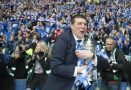 St Johnstone manager Tommy Wright gets his hands on the Scottish Cup after beating Dundee United.