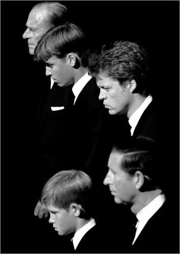 PIC JON BOND PRINCESS DIANA FUNERAL 1997