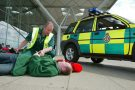 Paramedics at Stansted
