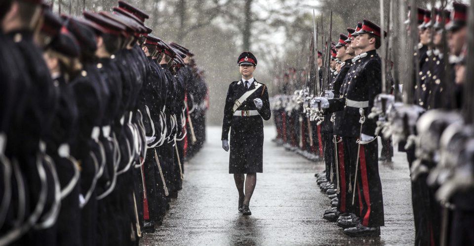 Wet Sandhurst parade, 2016