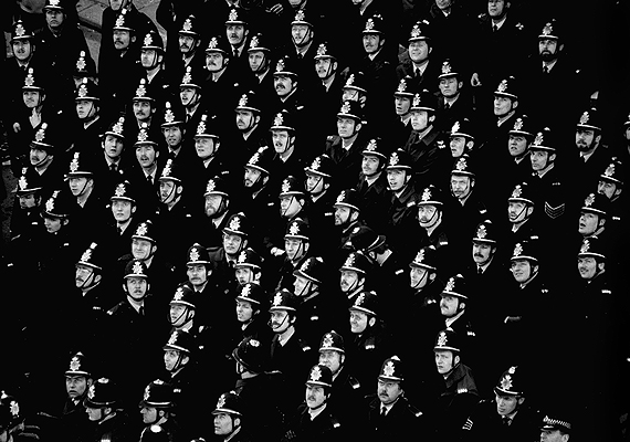 Policemen during the '80s Miners strike