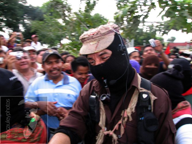 Zapatista rebel leader Subcomandante Marcos