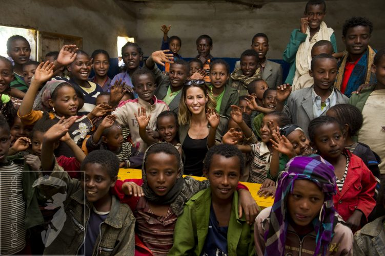 Rachel Stevens in Ethiopia, for WaterAid