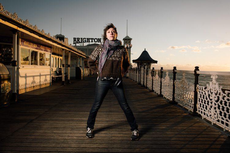 Portrait of Singer Martha Wainwright on Brighton Pier