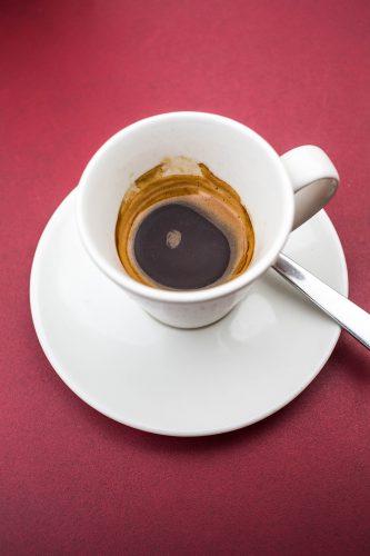 Half Drunk Cup of Esspresso Coffee