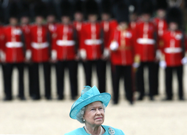 Britain's Queen Elizabeth attends the Trooping the Colour ceremony in London