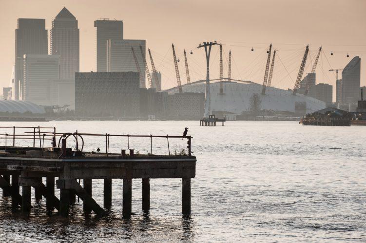 London docklands.