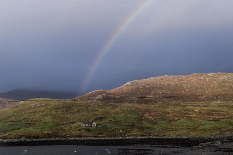Rainbow over Amhuinnsuidhe - Isle of HarrisPicture by Glenn Copus©
