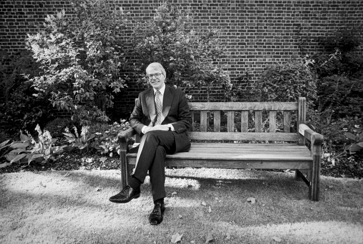 John Major in the Downing Street Garden