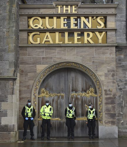 Anti lockdown protesters march in Edinburgh, Monday 11 January 2021