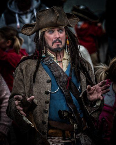 11/05/2014 Captain Jack Sparrow. Plymouth  Barbican pirat weekend.