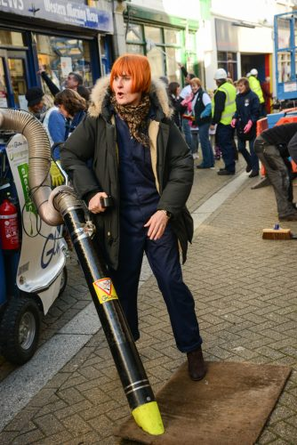 27/10/2014 Mary Portas back for the Big Clean Up this weekend in Liskeard Cornwall.