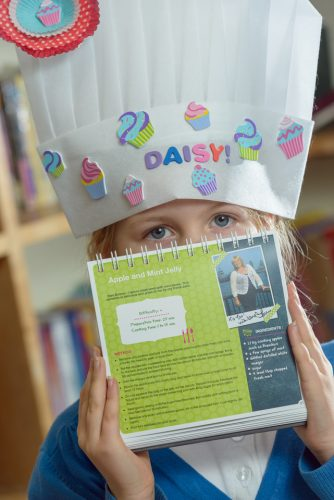 20/12/2012 Children at Buckland Monachorum St Andrew's C of E School with their recipe book.