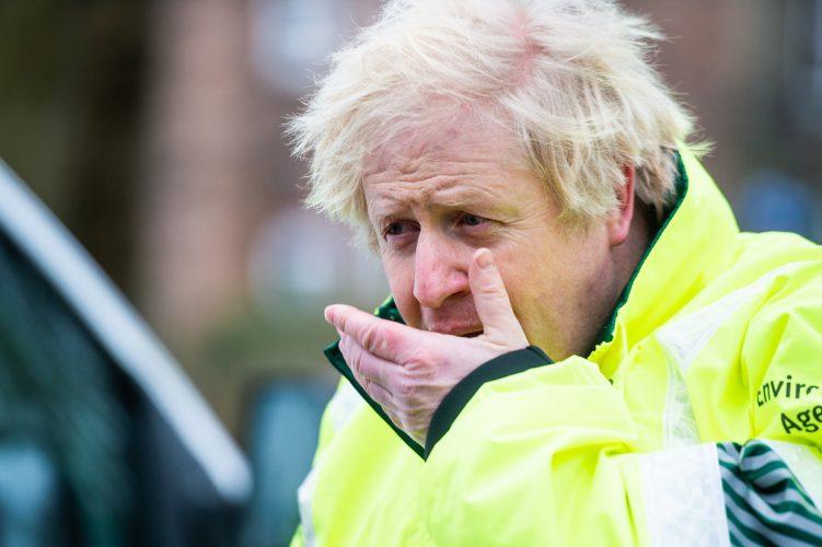 Boris Johnson visits flood defences