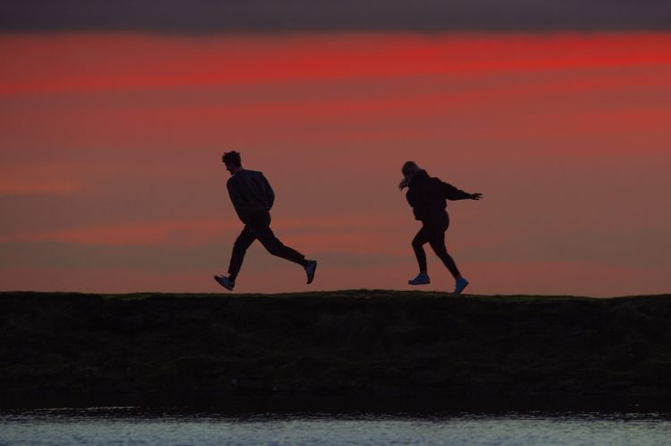 People enjoying mild weather on Saddleworth Moor