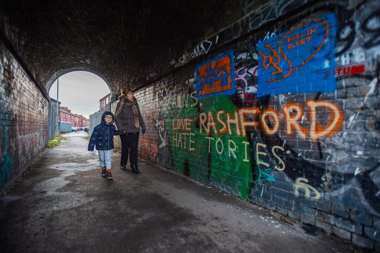 Rashford graffiti in Manchester