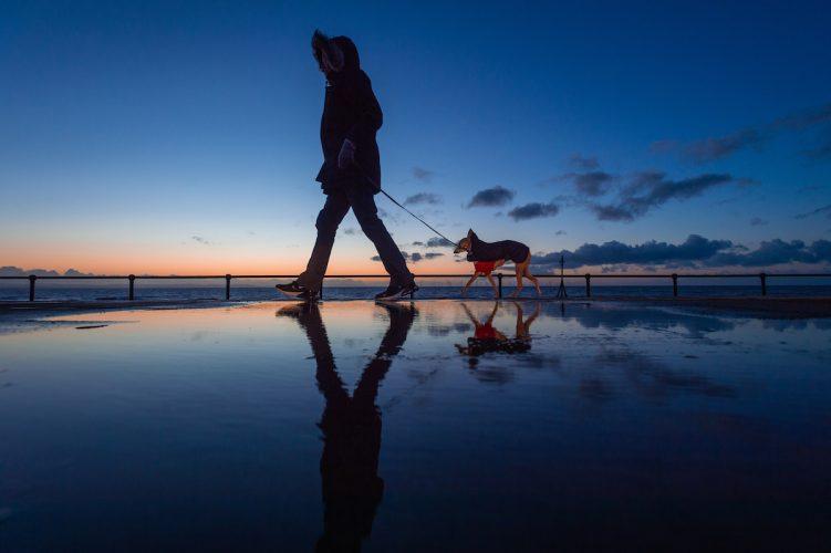 Sunset at Crosby Beach