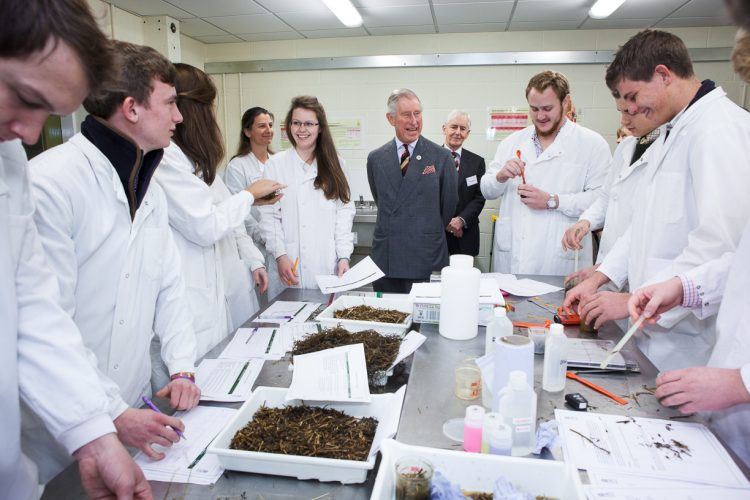 His Royal Highness Prince Charles visits the RAU.