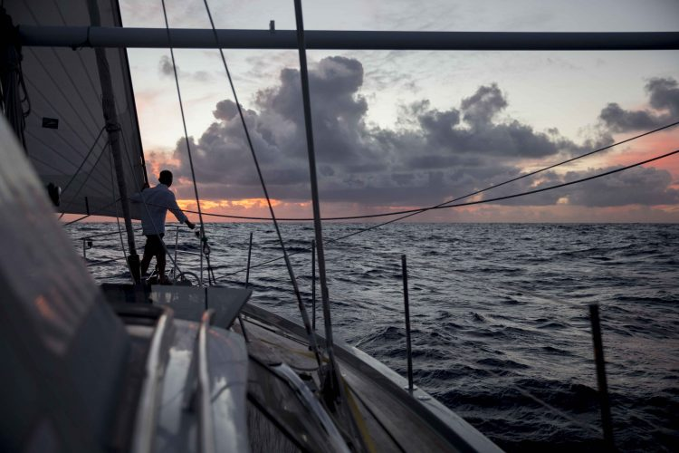 Mid Atlantic sunrise aboard an Oyster 575 yacht en route to Rodney Bay, St Lucia.