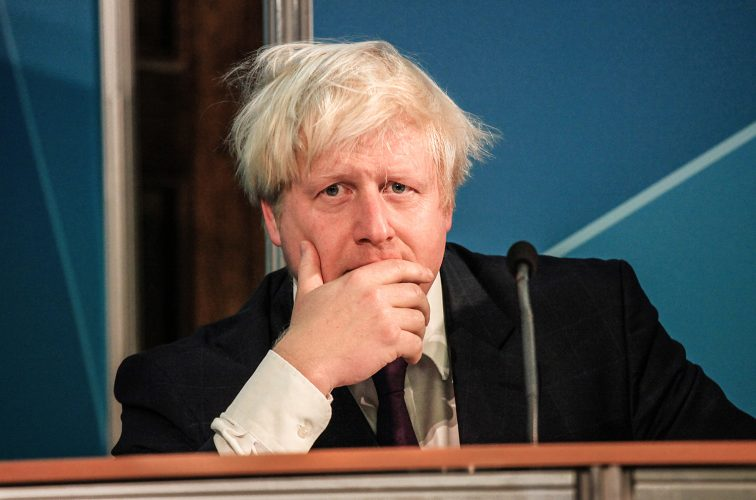 Mayor Boris Johnson attends a briefing ahead of the final week of the Olympic torch relay