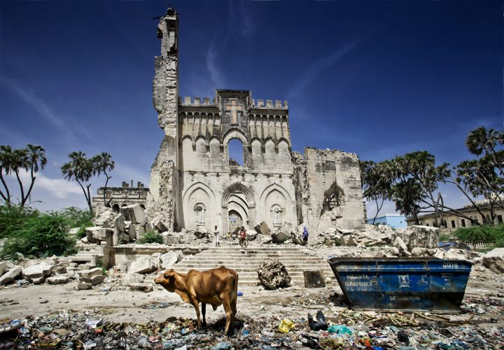 Somalias only cathedral in Mogadishu, destroyed in the 20 years of civil war