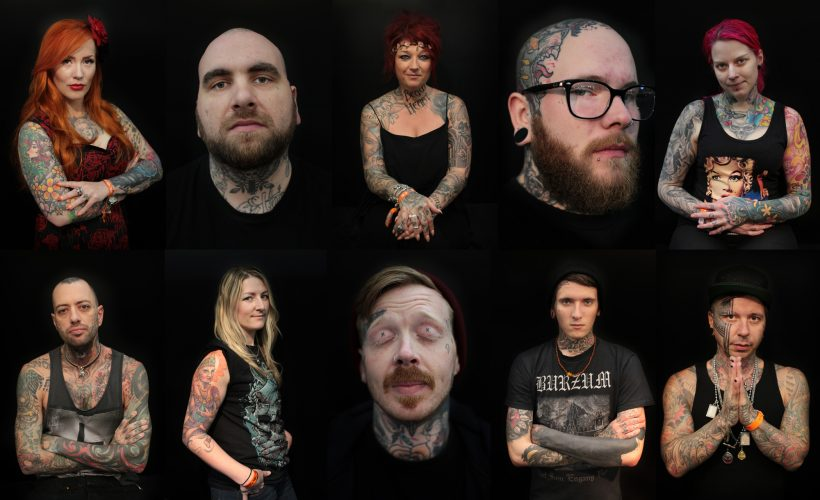 Ten Tattooists. Portraits from the Great British Tattoo Show. Alexandra Palace. London. UK