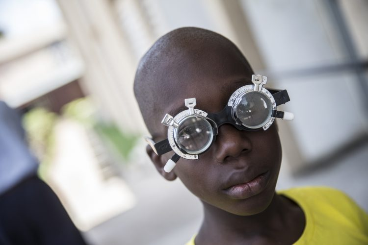 A patient at the Guinness Eye Hospital, Lagos, Nigeria.