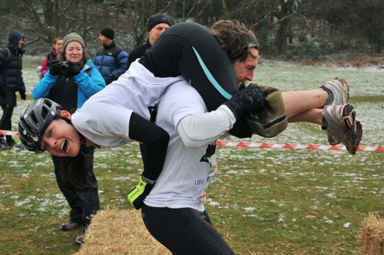 The UK Wife Carrying Championships, Dorking, Surrey.